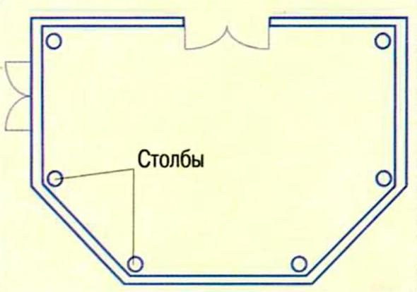 Шестиугольная веранда