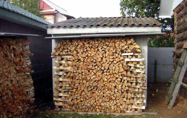 способы укладки дров в поленницы