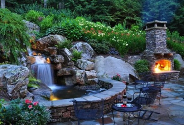Как создать водопад на даче или в саду